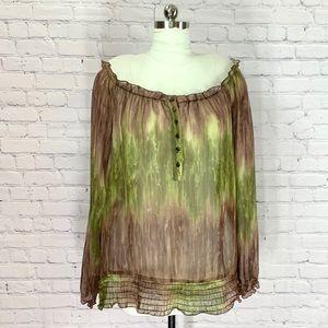 LANE BRYANT Bohemian Sheer Blouse Plus Size 18/20